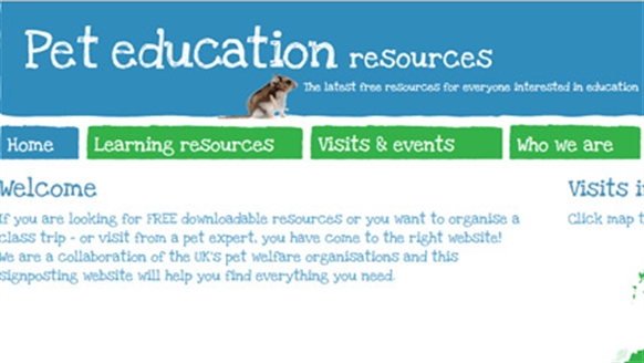 Pet Education resources website
