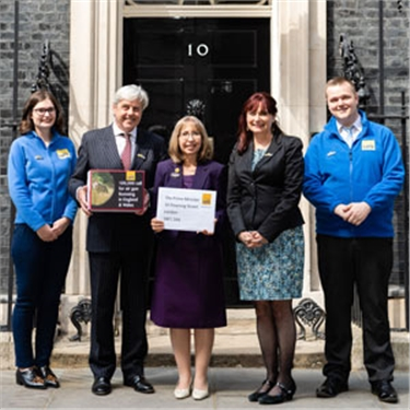 Cats Protection delivers 100,000-strong petition to change air gun laws to 10 Downing Street