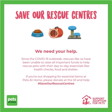 Save Our Rescues - Pets at Home Appeal