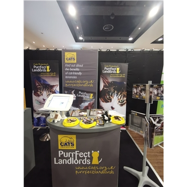Cats Protection attends the Landlord Investment Show in Birmingham
