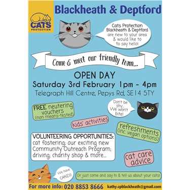 Cats Protection Blackheath & Deptford Open Day