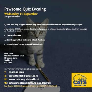 Pawsome Quiz Night - Wednesday 11 September