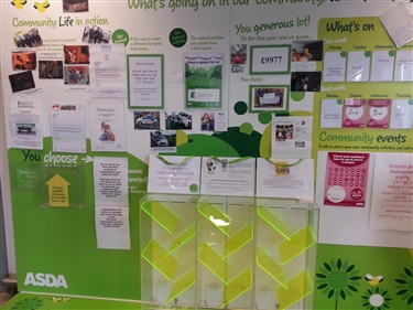 Asda Spennymoor has chosen Cats Protection as one of the new chosen by you causes for oct/nov voting period