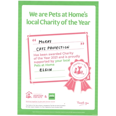 Elgin Pets at Home Charity of the Year 2021