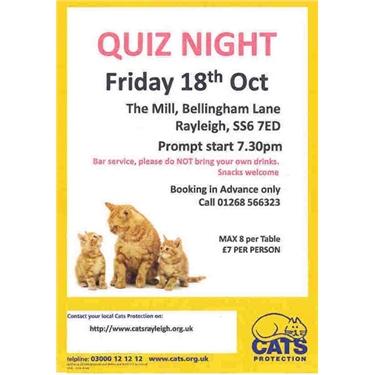 Quiz night tickets still available