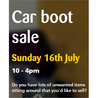 Support our car boot sale