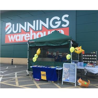 Fundraising at Bunnings