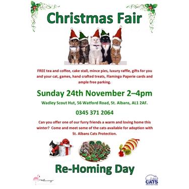 Christmas Fair and Homing Day 24th November 2-4pm