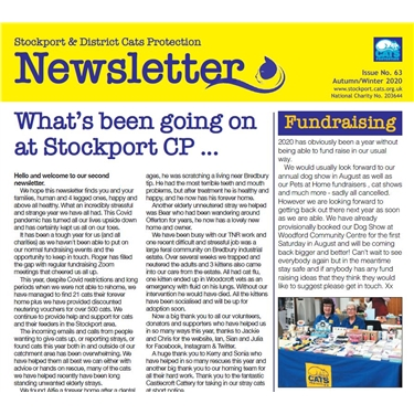 Stockport Winter 2020 Newsletter available to read here