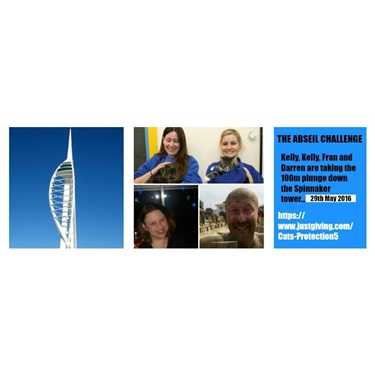 Support our Abseil down the Spinnaker tower