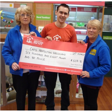 DONATION FROM PETS AT HOME