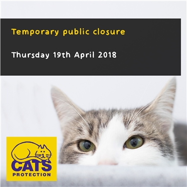 Temporary public closure: Thursday 19th April 2018