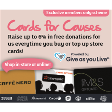 Raise funds for Cats Protection with Cards for Causes