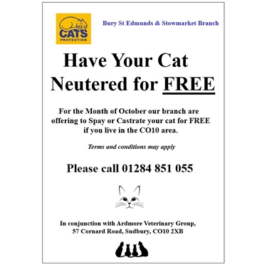 Neutering Help CO10 area