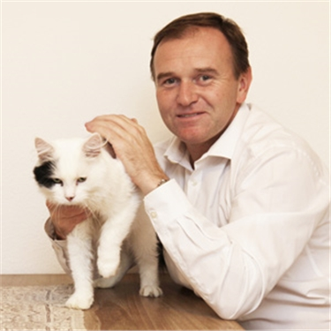 Newest political puss settles in with Defra Minister George Eustice MP after being adopted from Cats Protection