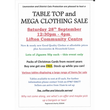 Table Top & Mega Clothing Sale