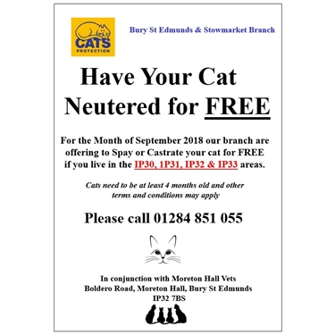 Free Neutering for IP30, IP31 IP32, IP33
