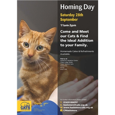 Homing Day - Saturday 28th September