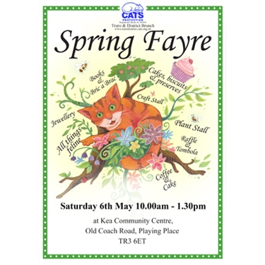 Cats Protection, Truro and District Branch 2017 Spring Fayre