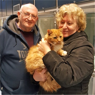 Microchip helps reunite puss Tosha with his owners - TEN YEARS after going missing
