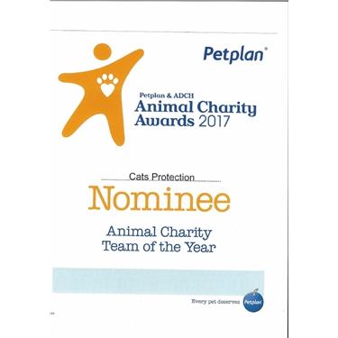 Petplan & ADCH Animal Charity Awards 2017