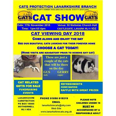 Annual Cat Homing Show and Lanark Xmas Market