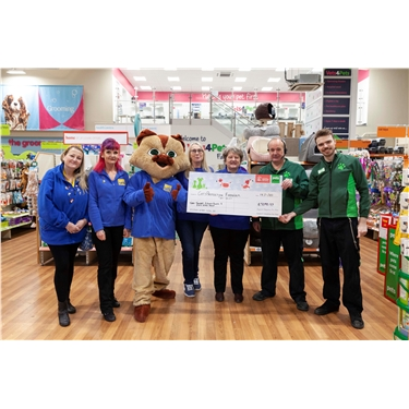 Over £3000 Raised at Pets at Home