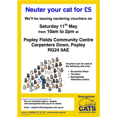 Neuter your cat for £5