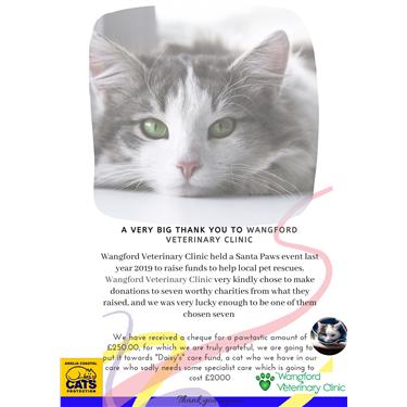 Wangford Veterinary Clinic Donation