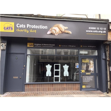 Cats Protection Brighton & District opens Hove store