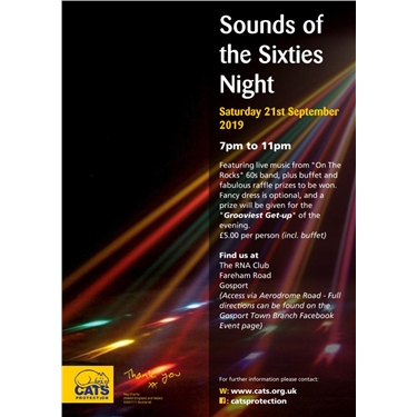 Get your tickets now - Sounds of the Sixties Night!
