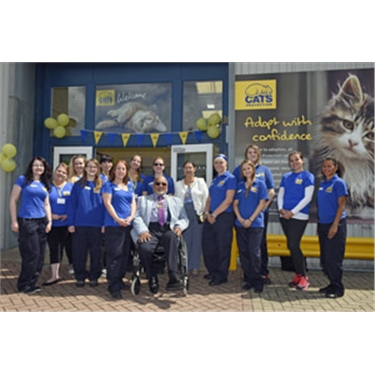 Mitcham turns out to support Cats Protection's first-of-a-kind homing centre