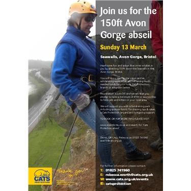 150ft abseil, Avon Gorge, Bristol