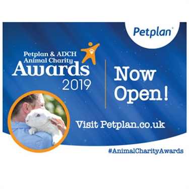 Petplan® and the Association of Dogs and Cats Homes (ADCH) Animal Charity Awards 2019