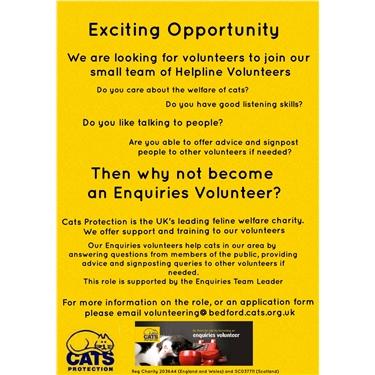 Enquiries Volunteer Opportunity
