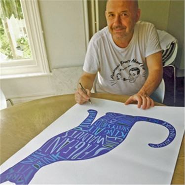 Signed Bob Mortimer cat print auction to raise cash for kitties