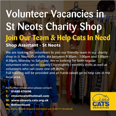 Volunteer Vacancies at Charity Shop