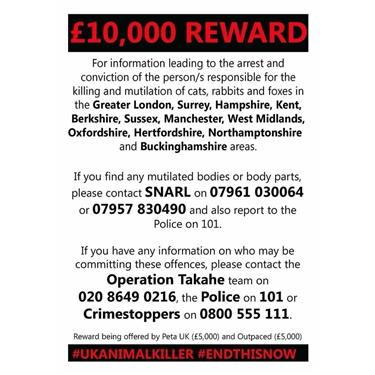 Please be aware that the UK Cat killer has struck again in Bracknell