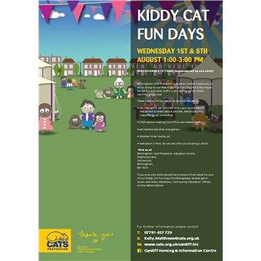 FREE kiddy Cat Fun Days for kids age 5-12 years old