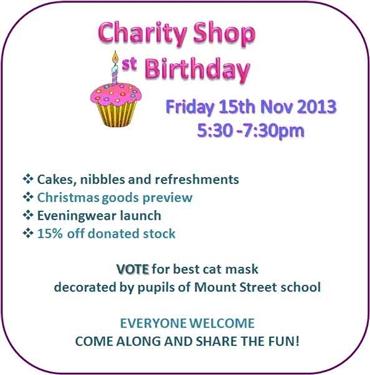 Charity Shop Birthday!