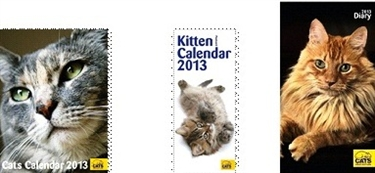 Cats Protection Diaries and Calendars 2013