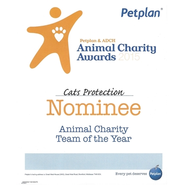 Petplan animal charity nominee