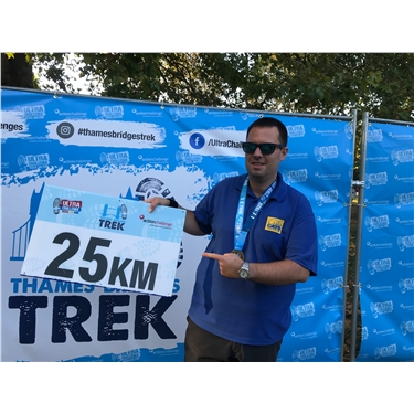 Congratulations to Dan for completing the Thames Bridge Trek!