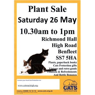 Buy your garden plants at our plant sale this Saturday, 26 May