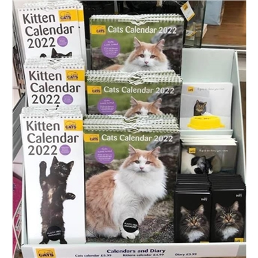 Why not buy your 2022 calendar at our Southend Cats Protection shop