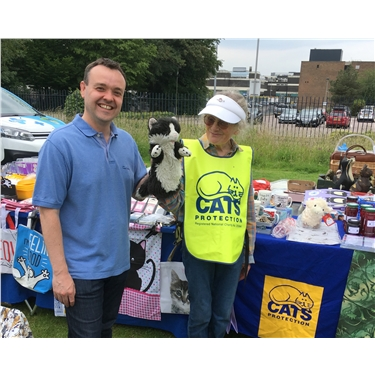 Stephen McPartland, MP for Stevenage, supports CP campaign for compulsory microchipping of cats