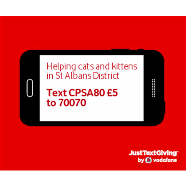 You can now donate by text message