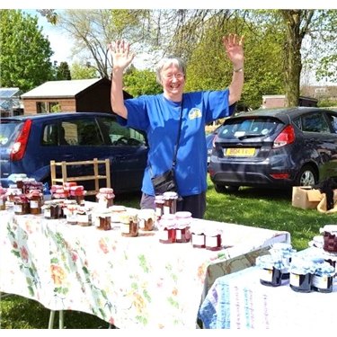 Jenny sells jam while the sun shines ...