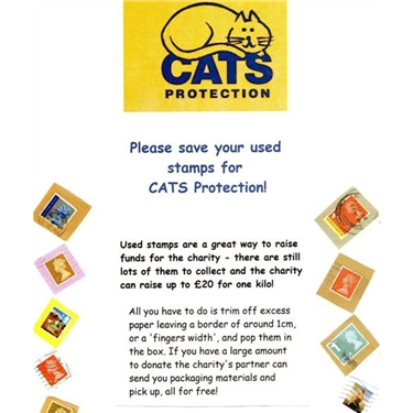 Save your USED stamps for Cats Protection