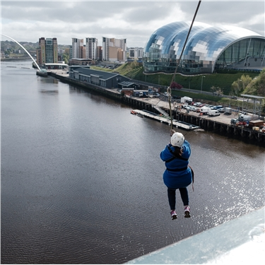 Zipslide fundraisers have an amazing Tyne!